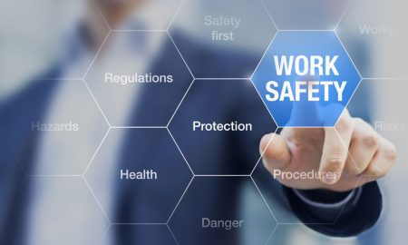 work safety stock image