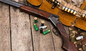 hunting ammo rifle gun stock image