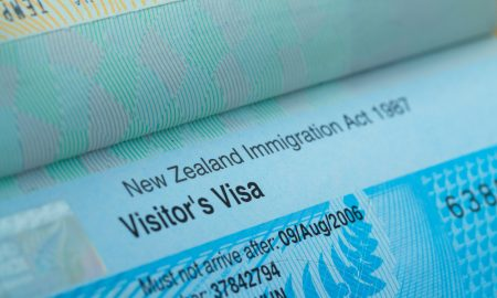 new zealand visa stock image