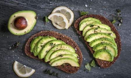 avocado toast stock image