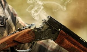 hunting gun rifle stock image