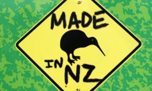 made in new zealand stock image