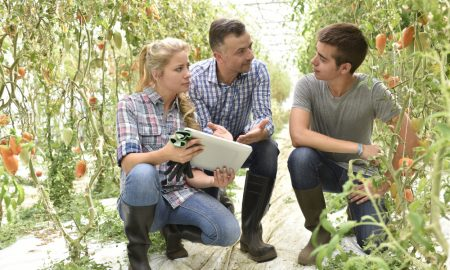 agricultural students stock image