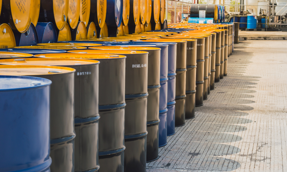 industrial waste stock image