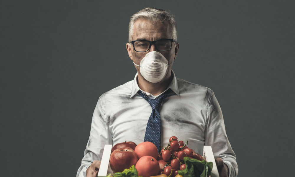 food contamination stock image