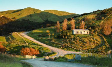 new zealand rural land stock image