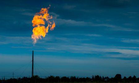 methane emissions stock image