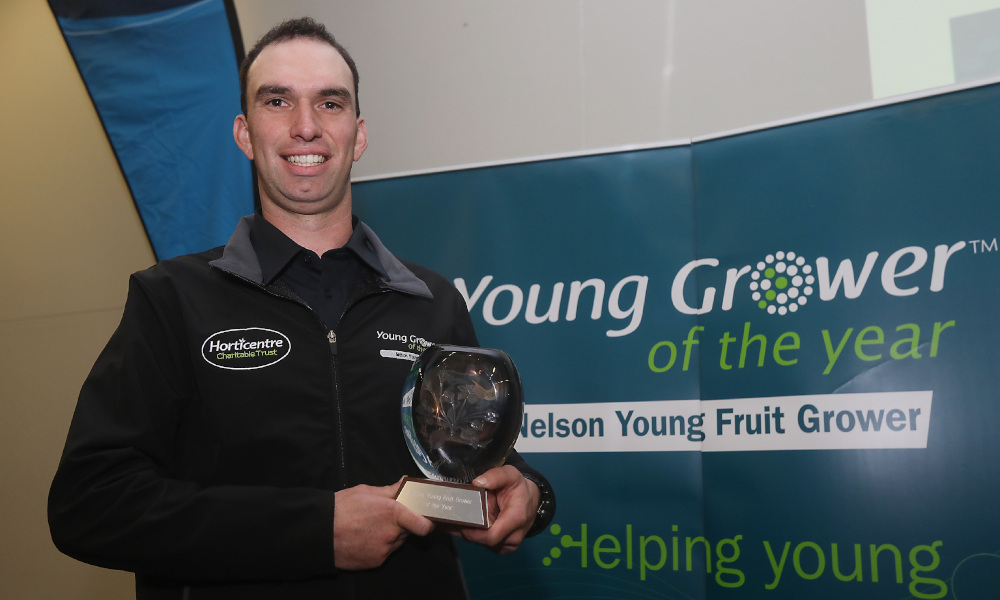 NELSON, NEW ZEALAND - JULY 5 Winner Jono Sutton From Eden Road Fruit Young Grower of the Year on July 5 at Richmond Showgrounds 2019 in Nelson, New Zealand. (Photo by: Evan Barnes )