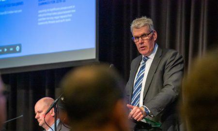 LIC Board Chair Murray King speaking at LIC's AGM in New Plymouth.